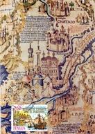 CELEBRAZIONI COLUNBIANE MAPPAMONDO DI FRA MAURO 1991 MAXIMUM POST CARD (GENN200255) - Esposizioni Filateliche