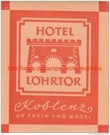Hotel Lörtor Koblenz An Rhein Und Mosel - Etiquettes D'hotels