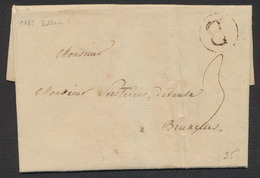 """Précurseur - LAC Datée De Dolhain 2/7/1785 + Cachet Rond Noir """"B"""" Vers Bruxelles. TB - 1714-1794 (Oesterreichische Niederlande)"""