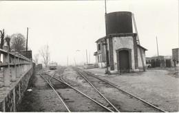 Photo Originale Train Wagon Voies Autorail Des CFD En Gare De Montereau VOIR DOS Cliché Riffault - Eisenbahnen