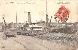 """Dépt 14 - CAEN - L'Arrivée Du Minerai (""""Minerais"""") De Fer - (ELD N° 916) - Train - Caen"""