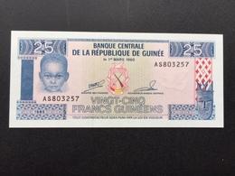 GUINEA P28 25 FRANCS 1985 UNC - Guinea