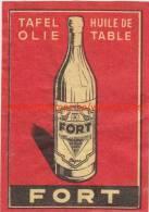 Fort Tafelolie Huile De Table - Boites D'allumettes - Etiquettes