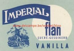 Imperial Flan Vanilla - Boites D'allumettes - Etiquettes
