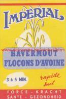 Imperial Havermout Flocons D'avoine - Boites D'allumettes - Etiquettes