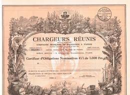 Obligation Ancienne - Chargeurs Réunis - Compagnie Française De Navigation à Vapeur - Titre De 1930 - Déco - Uncirculed - Navy