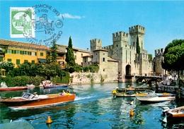 LAGO DI GARDA  SIRMIONE CASTELLO SCALIGEROO  1991 MAXIMUM POST CARD (GENN200258) - Esposizioni Filateliche