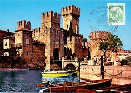 LAGO DI GARDA  SIRMIONE CASTELLO SCALIGEROO  1991 MAXIMUM POST CARD (GENN200260) - Esposizioni Filateliche