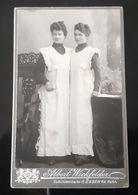CDV CURIEUSE SOEURS SIAMOISES OU PHOTO MONTAGE SIAMESE SISTERS WICKFELDER ESSEN GERMANY FOTO SIAMESISCHE ZWILLINGE - Foto's