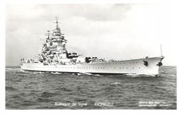 Bateau De Guerre Batiment De Ligne Richelieu Marine Militaire Française - Warships