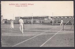 CPA - Espana / Spain  -  BAÑOS DEL CARMEN, ( Malaga )  -  Campo De Tennis - Málaga