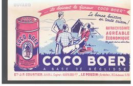 Buvard COCO BOER à Base De Réglisse ETS J.-P. COURTIER LE POUZIN Ardèche - Softdrinks