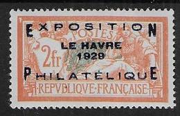 Exposition Le Havre 1929 -  N° 257A *  Cote : 175 € - Neufs