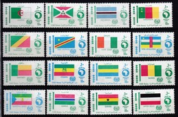 E170 – EGYPTE – EGYPT – 1969 – AFRICAN FLAGS FULL SET – Y&T # 746/86 MNH - Nuevos