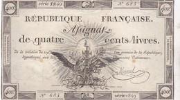RARE ASSIGNAT 400 LIVRES / SERIE 1849 / N 683 / MANUEL - Assignats & Mandats Territoriaux