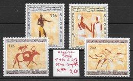 Histoire Préhistoire Peintures Rupestres - Algérie N°414 à 417 1966 ** - Préhistoire