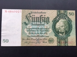 GERMANY P182A 50 MARK 30.03.1933 AUNC - [ 4] 1933-1945: Derde Rijk