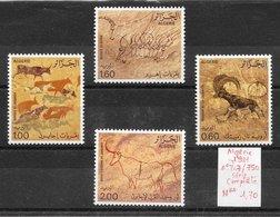 Histoire Préhistoire Peintures Rupestres - Algérie N°747 à 750 1981 ** - Préhistoire
