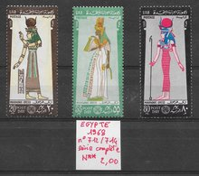 Histoire Pharaon Nefertari Mythologie Isis - Egypte N°712 à 714 1968 ** - Egyptology