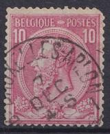 """171-  COB/OBP 46 (o) AMB. """"BRUXELLES-ARLON"""" +8 - 1884-1891 Leopold II."""