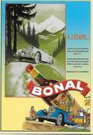 """CP -Publicité -Apéritif «BONAL»   Voiture (l'artiste """"Krik"""") - Reclame"""