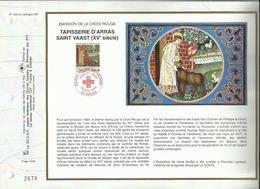 N° 1200 DU CATALOGUE CEF . CROIX ROUGE FRANCAISE . TAPISSERIE D'ARRAS . 26 NOVEMBRE 1994 . ARRAS . - FDC