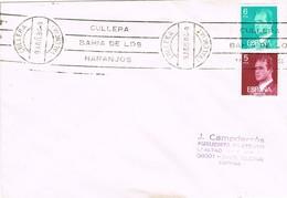 35382. Carta CULLERA (Valencia) 1984. Rodillo Especial Bahia De Los NARANJOS. Orange - 1931-Hoy: 2ª República - ... Juan Carlos I