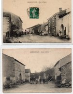 """88 -GREMIFONTAINE -- Lot De Deux Cartes - """"Rue Du Centre""""  §  """"Route De Bains"""" ;édit: ? - - Sonstige Gemeinden"""