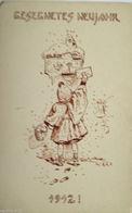 """""""Neujahr, Kinder, Briefkasten, Jahreszahl, Brief"""" 1912  ♥   - Anno Nuovo"""