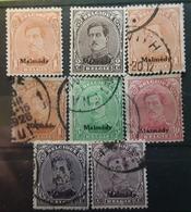 BELGIQUE,  1920 MALMEDY , 8 Timbres Neufs * Obl Diverses,  Yvert No 22 X3 ,23 , 24 , 25 , 26 , 27 ,  TB - [OC55/105] Eupen/Malmédy