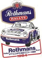Autocollant Rothmans, Rallye Team Porsche 1984, Voiture De Sport, Sticker - Aufkleber