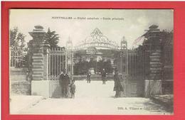 MONTPELLIER 1917 HOPITAL CIVIL ET MILITAIRE CARTE EN BON ETAT - Montpellier