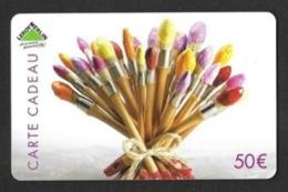 Carte Cadeau  LEROY MERLIN  50€.   Pinceaux.   Gift Card.   Geschenkkarte.   Carta Regalo. - Gift Cards