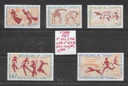 Histoire Préhistoire Peintures Rupestres - Tchad N°146 à 148 & PA N°42, 43 1967 ** - Préhistoire