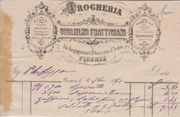 ** GUGLIELMO FRATTIGIANI.- (FI).- 1881- DROGHERIA.-** - Italia