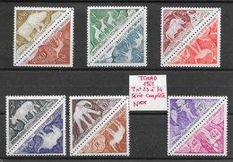Histoire Préhistoire Peintures Rupestres - Tchad Taxe N°23 à 34 1962 ** - Préhistoire