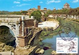 ROMA ISOLA TIBERINA  1991 MAXIMUM POST CARD (GENN200267) - Maximumkaarten