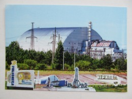 Ukraine Chernobyl Nuclear Power Plant (Chornobyl) New Sargophagus Aerial View - Ukraine