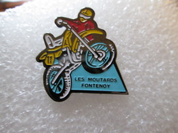 PIN'S   MOTO  LES MOUTARDS FONTENOY - Motorbikes