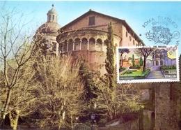 BASILICA DEI SANTI GIOVANNI E PAOLO   1991 MAXIMUM POST CARD (GENN200271) - Esposizioni Filateliche