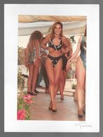 PHOTO  -  FEMME - GIRL - WOMAN - MISS -  LINGERIE - PHOTO CM. 19X12,5 - Pin-ups