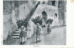 Amalfi Women Carrying Wood . Transport Du Bois . Travail Des Femmes Undivided Back . Edit Brangi Palermo - Altre Città