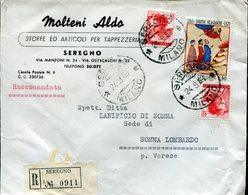 Italia (1966) - Raccomandata Da Seregno (MI) - 6. 1946-.. Repubblica