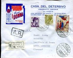 Italia (1966) - Raccomandata Da La Spezia (succ. 3) - 6. 1946-.. Repubblica