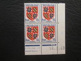 Type Ecusson Borgogne N° 834 COIN DATE TTB - 1940-1949