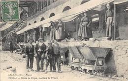 1912 FIGEAC - Mines De Fèges- Atelier De Triage. Superbe état Et Très Beau Premier Plan Animé. - Mines