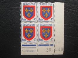 Type Ecusson Anjou N° 838 COIN DATE TTB - 1940-1949