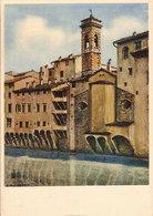 (C).Firenze.Case Sull'Arno.Illustratore A.M. Crepet (c20) - Firenze