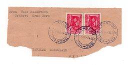 1946 YUGOSLAVIA, MONTENEGRO, GRAHOVO TO SPLIT, PART COVER - Montenegro