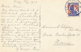 Nederland - 1933 - 5 Cent Kinderzegel NVPH 249 Op Ansicht Van Velp (Gld) Naar Hoorn - Villapark Velp - Periodo 1891 – 1948 (Wilhelmina)
